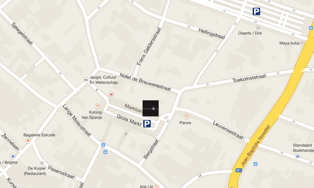Map parking Vilvoorde